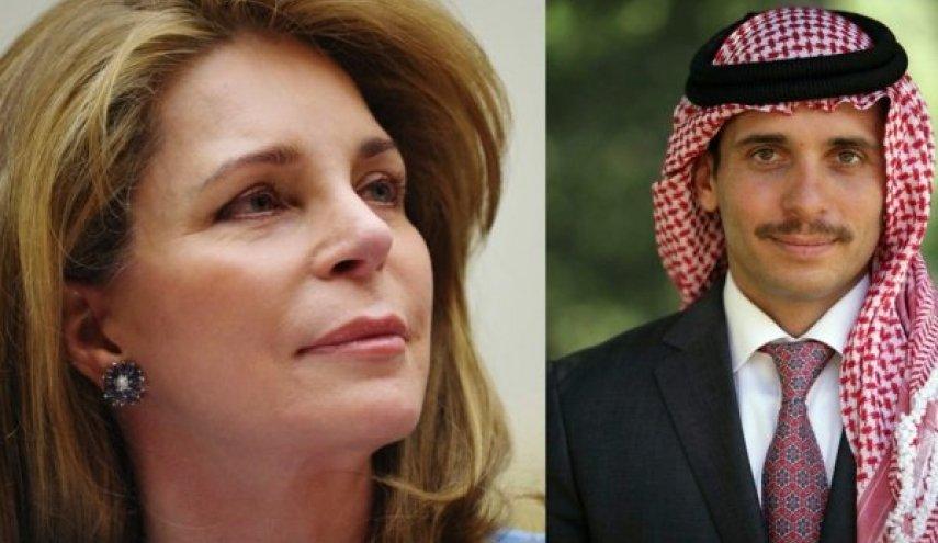 الملكة نور وابنها حمزة بن الحسين