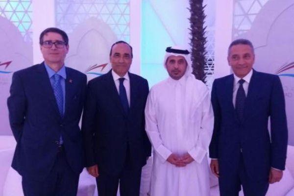 رئيس الحكومة ووزير الداخلية القطري لدى استقباله رئيس مجلس النواب المغربي ووزير التجارة والصناعة وسفير المغرب لدى الدوحةً    . إيلاف
