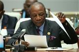 الرئيس الغيني كوندى رئيس الاتحاد الافريقي ألفا كوندي أ . ف .ب