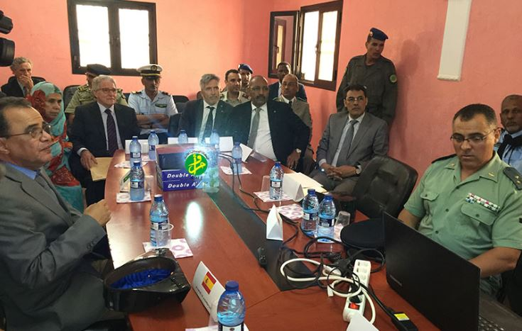 اجتماع الوفد الإسباني ونظيره الموريتاني بمقر مكتب مكافحة الهدرة السرينة بنواذيبو